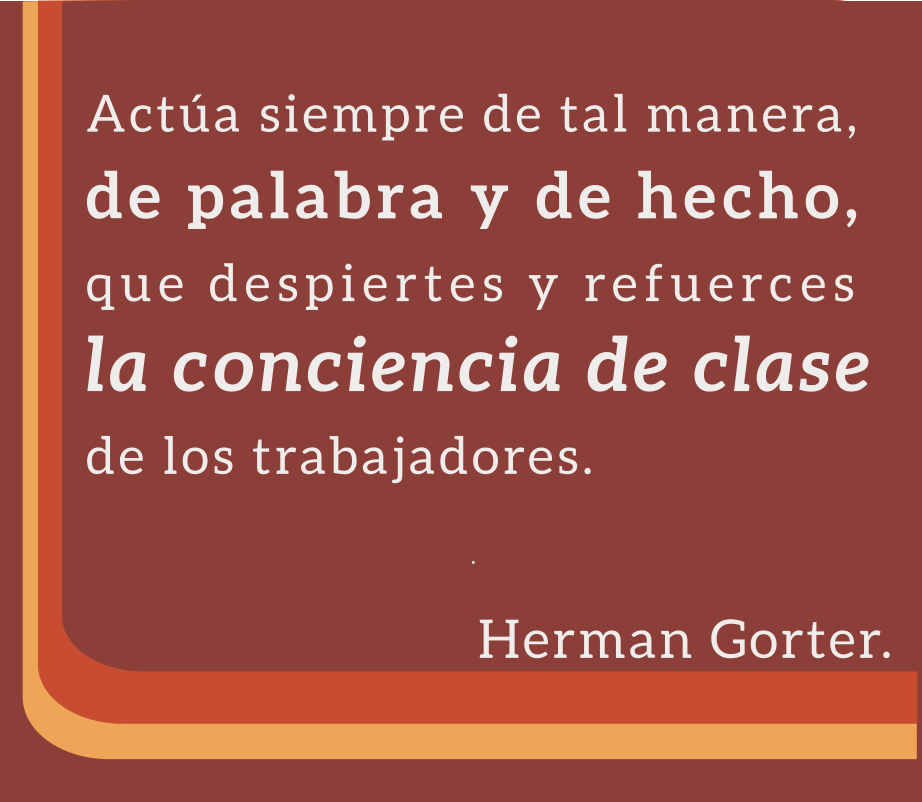 Cita de la Carta Abierta al Camarada Lenin, de Herman Gorter.