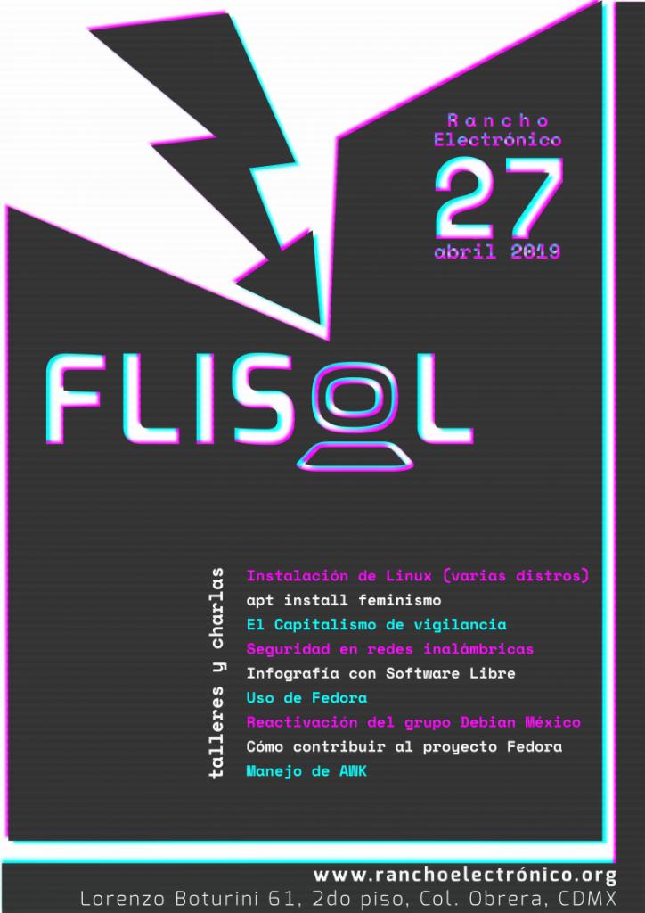 Cartel para el FLISoL