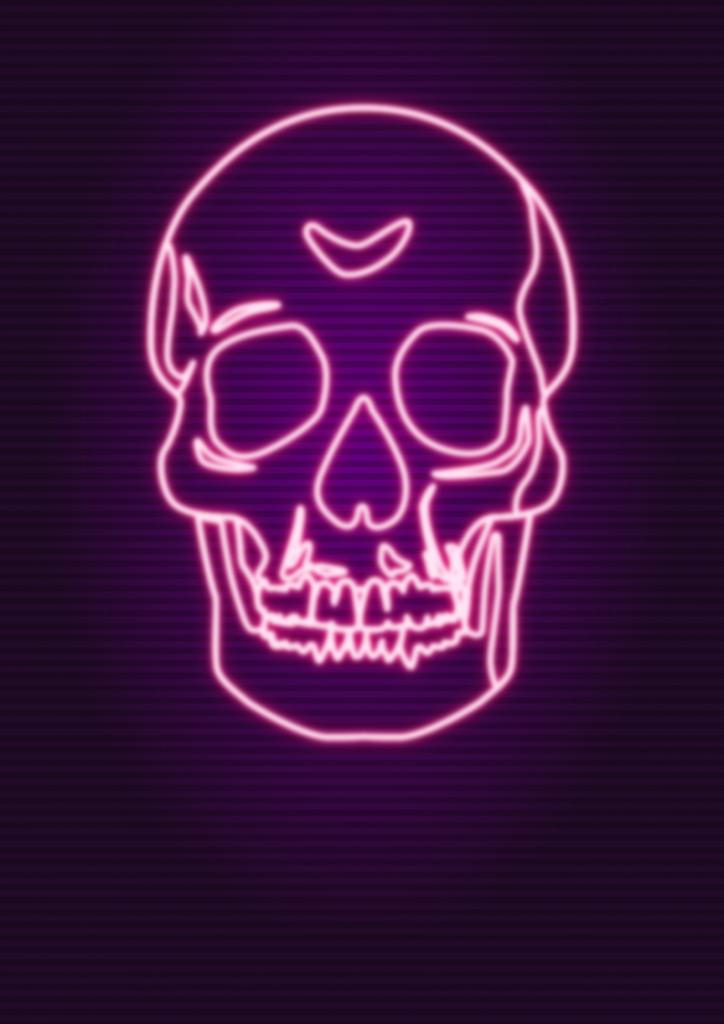 Calavera neon.